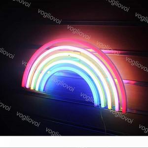 Sinal de LED Neon SMD2835 interior Noite luz Modelo Projeto colorido do arco-íris Com Transparente Xmas Holiday Party Backplane casamento Tabela Lâmpadas DHL