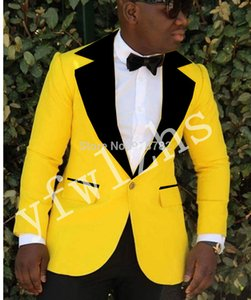 Handsome One Button Groomsmen Notch Lapel Groom Tuxedos Mens Wedding Dress Man Jacket Blazer Prom Dinner suits (Jacket+Pants+Tie)W101