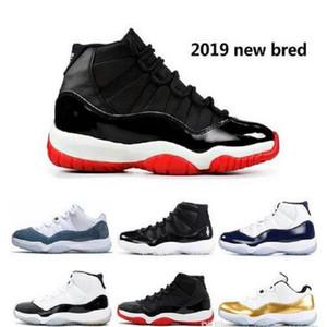 С Box Платиновый Оттенок Concord 45 выпускной вечер 11s Jumpman 11 Bred шапочке и мантии Мужчины женщин Баскетбол обувь Space Jam спортивные кроссовки размер 7-13