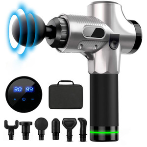 Profession Massage Gun LCD Display Body Muscle Deep Fascia Massager Muscle Pain Exercising Relaxation Slimming Shaping
