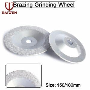1pc 150mm 180mm Vacuum Brazed Diamond Cutting Grinding Disc for Angle Grinder Polishing Glass Tile Stone Grinding Wheel