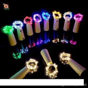 2M 20LED String lights Cork Shaped Bottle Stopper Glass Wine bottle Cork with LED Lamp Copper Wire String Lights For party Wedding Christmas