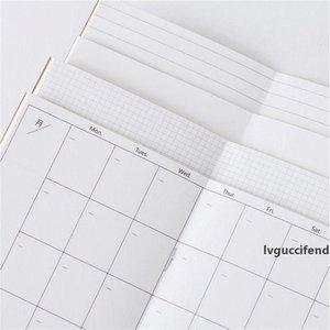 Toptan Gezgin Not Moda Yaratıcı İç Kitabı 60 Levha / Boş / Haftalık Planı / Izgara Çizgili 18.8 * 10.2cm DIY Dergisi Malzemeleri Defter