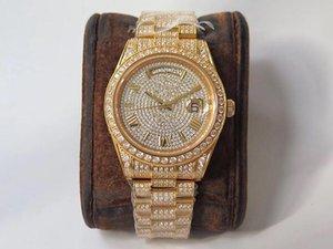 Высокое мужское качества смотреть 904L бриллиантовые часы Релох де Lujo 2836 движения часы недели календаря двойного время автоматического Montre люксусного V4