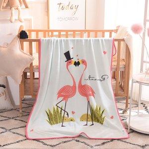 Couverture bébé Cartoon Throw Blanket Fluffy enfants doux de la peau de bébé Couvertures Cartoon friendly 100 * 140cm Home Textiles CCA12372 15pcs