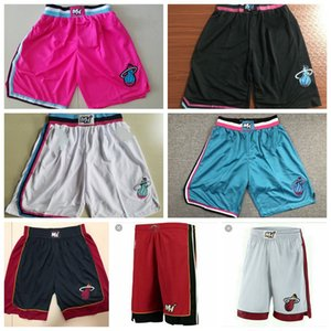 MiaminbaHeat Dwyane Mens 3 Wade Respirant City Gym Sport Court Pantalon fitness Basketball Shorts pantalones cortos de Baloncesto