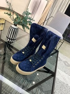 Ting2594 403210 Classic Flat Snow Boots - Blue Riding Rain Boot Boots Booties Sneakers Dress Shoes
