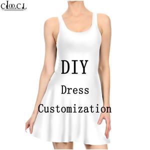 Seksi Elbise Kadınlar 3D Baskı DIY Kişiselleştirilmiş Tasarım Pileli Elbise Özelleştirmek Kendi Görüntü / Fotoğraf / Yıldız / Şarkıcı / Anime Bayanlar Günlük Elbiseler