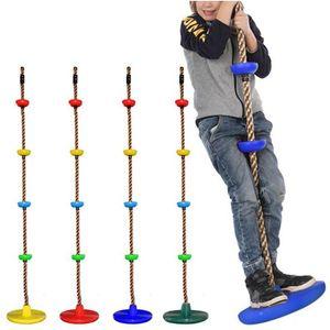 Канаты Дети Climbing качелей диск Climbing Rope Детский сад качели площадка Backyard Открытый Качели Детские игрушки Альпинистская веревка LSK378