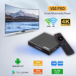 الروبوت التلفزيون مربع V88 برو مصنع رخيصة RK3228A 2G 16G الذكية مربع التلفزيون 4K HDR 9 V88 برو مجموعة كبار مربع وسائل الاعلام لاعب