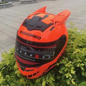 Malushen Марка Оранжевый цвет мотоцикла шлем Casco Мотокросс флип Шлем В Four Seasons Full Face Knight 3Ore #