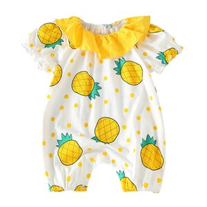 New HIgh Quality Summer Baby Girl Clothes One-piece Jumpsuits Baby Clothing Cotton Short Sleeve Romper Infant