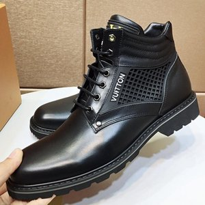 Fashion Men Shoes Boots Luxury Oberkampf Ankle Boot Lace -Up Leather Men Shoes Casual Winter Outdoor Chaussures Pour Hommes Luxury Mens Shoe