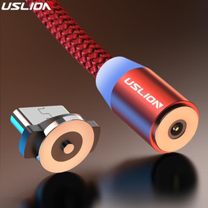USLION 2M magnetic Micro USB cable for Samsung Galaxy Note 9 S10 S9 S8 Plus Huawei P20 Xiaomi Redmi 4X magnet fast charger wire