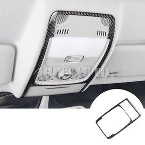 Para Audi Q5 8R fibra de carbono interior del techo Lectura frontal Recorte Claro Cubre 2009-2015 1pcs