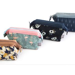 Flamingo Flower Printed Storage Bags Zipper Travel Makeup Cosmetic Bag fashion women Wash Organizer Bag Drop Ship
