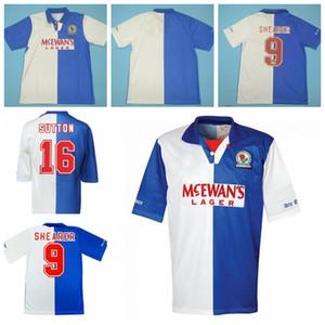 1994 1995 Vintage Blackburn Retro Soccer Jersey 16 SUTTON 9 SHEARER 7 RIPLEY 20 BERG HENDRY SHERWOOD ALAN GASCOIGNE Football Shirt Kits
