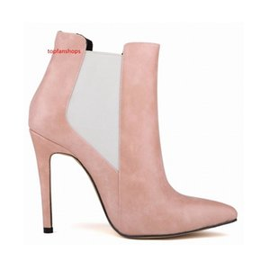 Chaussure Femme sexy pointed artificial leather stiletto heels platform ankle boots designer shoes United States 4-11 D0049