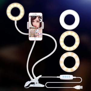 الأحدث الأعلى الصور الشخصية للحلقة الضوء مع حامل حامل الهاتف الخليوي لايف ستريم / ماكياج، UBeesize LED إضاءة الكاميرا acc017