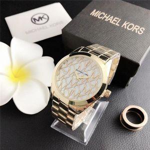 MKK Marque complète Les femmes de montres de diamants simples dames numériques robe pour femmes Designer Luxe Montres Bracelet Rose Michael Kors Gold Clock
