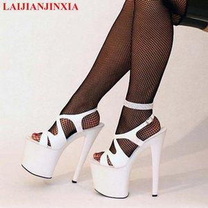 LAIJIANJINXIA Новый сексуальный Ультра 23см сандалии высокой пятки женщин высокой пятки платформы обувь, Pole Dance / Model / Свадебная обувь
