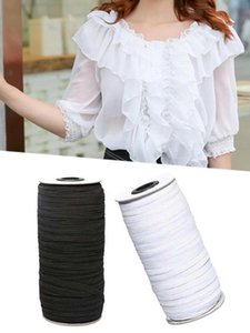 3 5 7mm100m Black White Elastic Rope Band Rubber Tape Ear Hanging Making Mask String Handle Ribbon DIY Sewing Accessories
