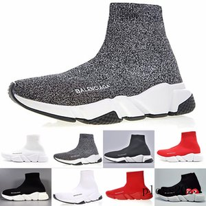 Sneakers Speed Trainer Black Red Gypsophila Triple Black Fashion Flat Sock Boots Casual Shoes Speed Trainer Runner With Dust Bag S1W8F