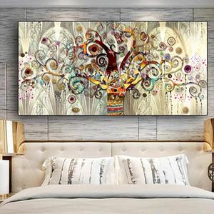 Gustav Klimt Baum des Lebens abstrakt Ölgemälde Klassische Wand-Kunst-Kunst auf Leinwand Poster Drucke Scandinavian Wandbild für Wohnzimmer-Dekor