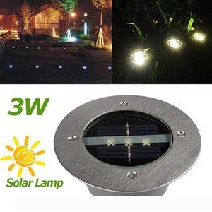 Solar Underground Lamps 3 LED Buried Lamp Light Outdoor Path Way Garden Under Ground Decking Waterproof LEG_20F