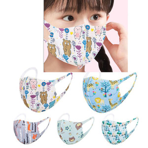Mode enfants Masque Cartoon Anime Printed Masques de protection Lavable Respirant Summer Party Printemps enfants des Masques cadeaux de fête pour les enfants