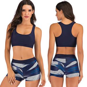 ZAFUAZ 2020 floral atractivo de la vendimia impresión del tamaño del bikini Sport Plus Traje de baño Mujer Vestido de traje de baño de los cortocircuitos del vendaje Mujer Trajes de baño T200708