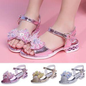 Çocuk Ayakkabıları 2020 Yaz Modası Çocuk Kız ışıldamaya Roman Sandalet Bebek Kız Prenses Sandalet Magic Bling Plaj Bebek Ayakkabı