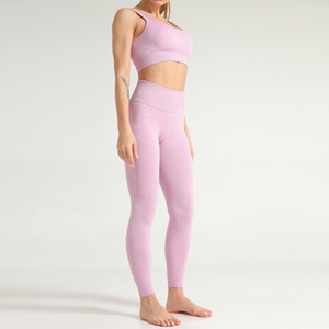 Vital Women Seamless Yoga Set Gym Clothing Fitness Leggings Cropped Shirts Sport Suit Women Long Sleeve Tracksuit Active Wear Yoga Sets