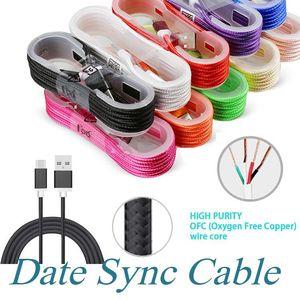 1.5M USB TO USB C-Ladekabel USB-Kabel Ladegerät Sync-Daten-Ladekabel Kabel für Android-Mobiltelefon ohne Paket schnelles Verschiffen