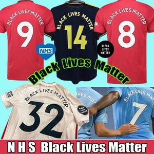 Top Thailandia 20 21 Black Lives Matter Jersey di calcio NHS BLM 2020 2021 manchester camice della Jersey di gioco del calcio camiseta de futbol maillot de foot