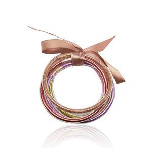 designer Hand catenary Jelly Bangle bracelet Glitter Jelly Bangles Bracelets Set for Women Glitter Filled Jelly Silicone Bracelets for Girls