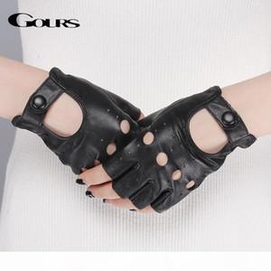 J Spring Women &#039 ;S Genuine Leather Gloves Driving Unlined Goatskin Half Finger Gloves Fingerless Gym Fitness Fashion Women Gloves