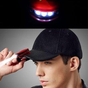 Wiederaufladbare Kopfbewegung Sensor LED-Scheinwerfer Hat Licht einstellbaren Lampensockel Wasserdichtes Material eingebaute Lithium-Batterie-Clip