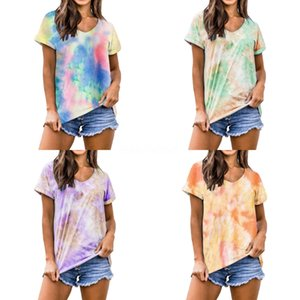 Brand Designer Women Runway Cotton T Shirts 2020 Summer Fashion Young Lady Round Neck Short Sleeve Print Oversized Casual Tee Tops#472