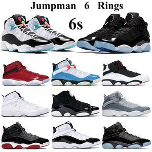 Hommes Femmes Chaussures de basket Jumpman 6s gymnase concord confiture spatiale anneaux rouge chaussures de sport confettis blanc bleu-clair Fury Formateurs Cyber