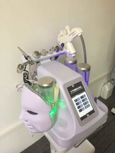 8in1 Mesotherapy RF Water Hydrafacial Dermabrasion Skin Cleansing LED PDT Mask Oxygen Jet Cold Hammer BIO Face Lift Ultrasonic Machine