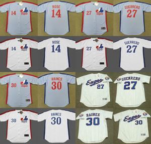 Montreal Expos 14 PETE ROSE 30 TIM RAINES 27 VLADIMIR GUERRERO 17 ELLIS VALENTINE 45 STEVE ROGERS 35 WOODIE FRYMAN baseball jersey