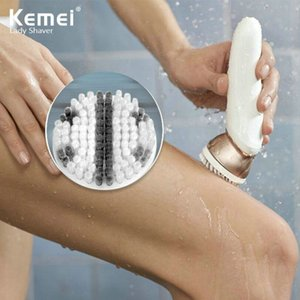 2016 Kemei Km 296 4 In 1 Multifunctional Shaver Electric Epilator Hair Removal Machine Face Cleaning Brush Massager Lady Shaver Set comecase