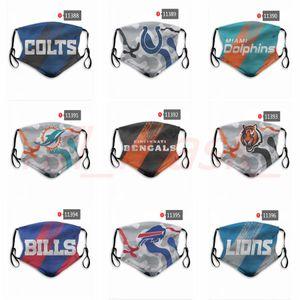 DHL Express OFFERTE masques Designer football équipe de rugby prix usine des masques anti-poussières réutilisables peuvent être les commandes mixtes, s'il vous plaît laisser un message