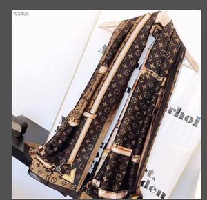 حار بيع الحرير وشاح أزياء الرجل للمرأة 4 مواسم شال وشاح والأوشحة حول حجم 180x70cm 6 لويس فويتون تغليف الهدايا الاختياري