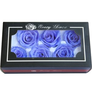 5-6CM 6pcs,Grade B Preserved Eternal Rose Head, Real Roses for Wedding party Decoration,flower Gift favor
