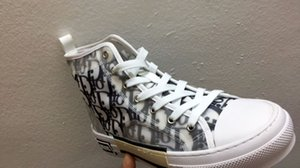 New Gao Bang High end Flowers Technical Canvas shoes High Top Oblique Casual shoes 3M Mens Women luxury Designer Shoes 36-44