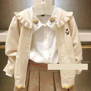 rqKeb 2020 Printemps / Été New filles style coréen zipper cardigan tricoté zipperzipper mignon de bande dessinée girlscoat 2020 Printemps / Été Nouvelle-coréen st