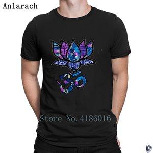 Lotus Flower ile Ohmom Sembol Tişörtlü Pamuk Yaz S-5XL Tasarım Temel Streetwear Hediye Gömlek Soğuk