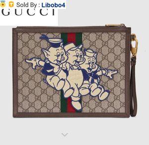 Libobo4 557697 Three Piglet Pattern Advanced Artificial Canvas Clutch Wallets Purse Shoulder Bags Crossbody Bag